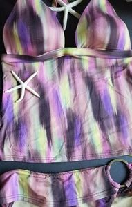 "Be a ""Watercolor Purple Passion Venus"" tankini"